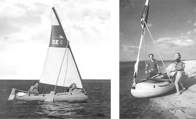 Самодельное парусное вооружение на надувную лодку