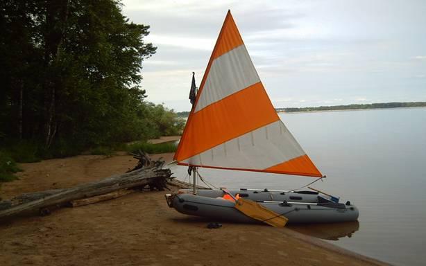 надувная лодка пвх с парусом
