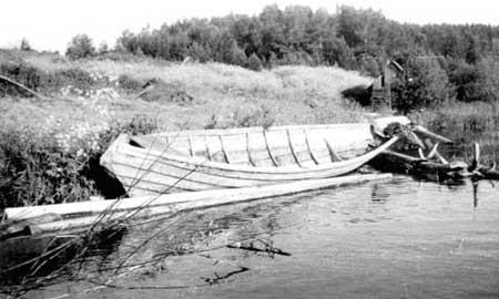 части лодки кижанки